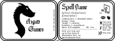 Spell card graphic